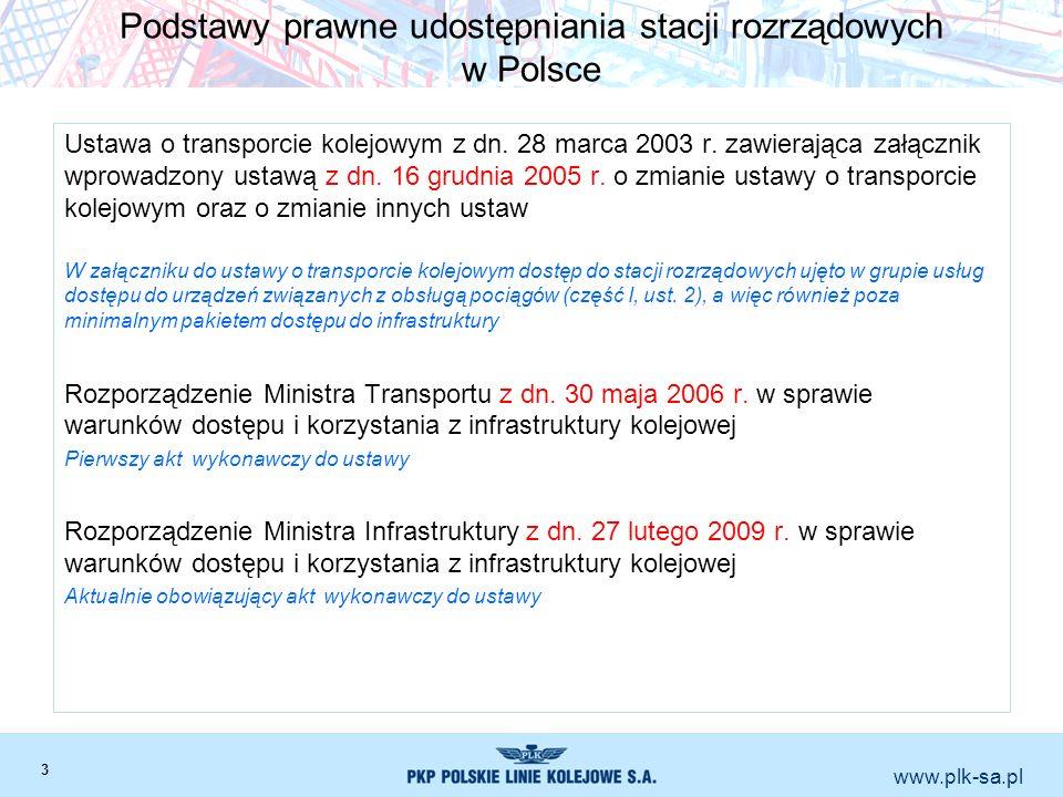 Podstawy prawne udostępniania stacji rozrządowych w Polsce
