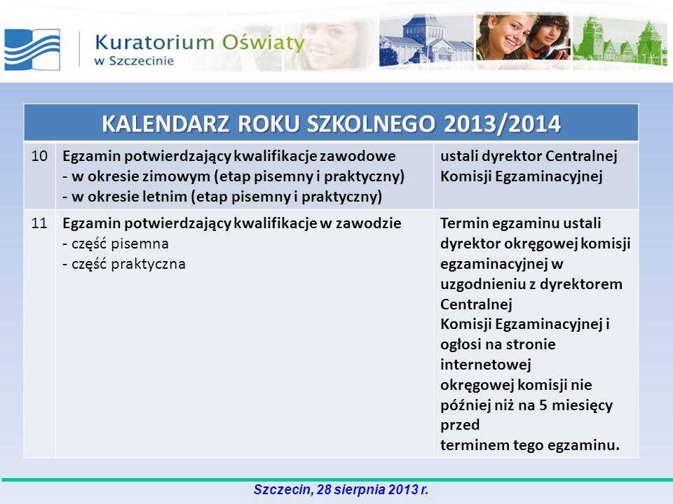 KALENDARZ ROKU SZKOLNEGO 2013/2014