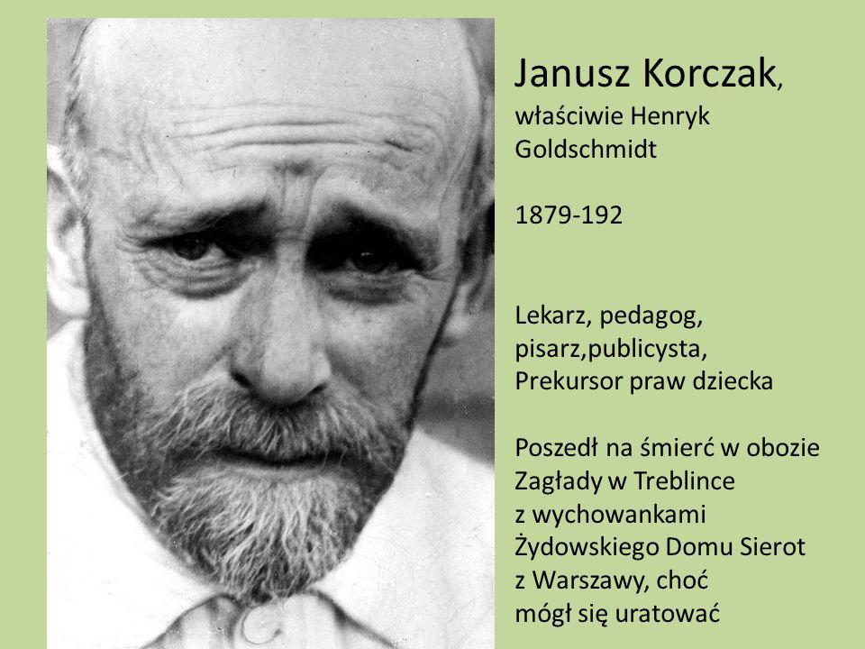 Janusz Korczak, właściwie Henryk Goldschmidt 1879-192