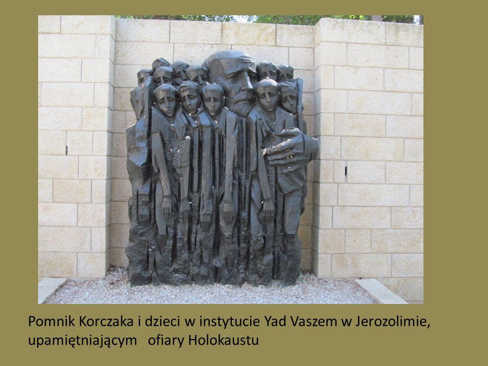 Pomnik Korczaka i dzieci w instytucie Yad Vaszem w Jerozolimie,