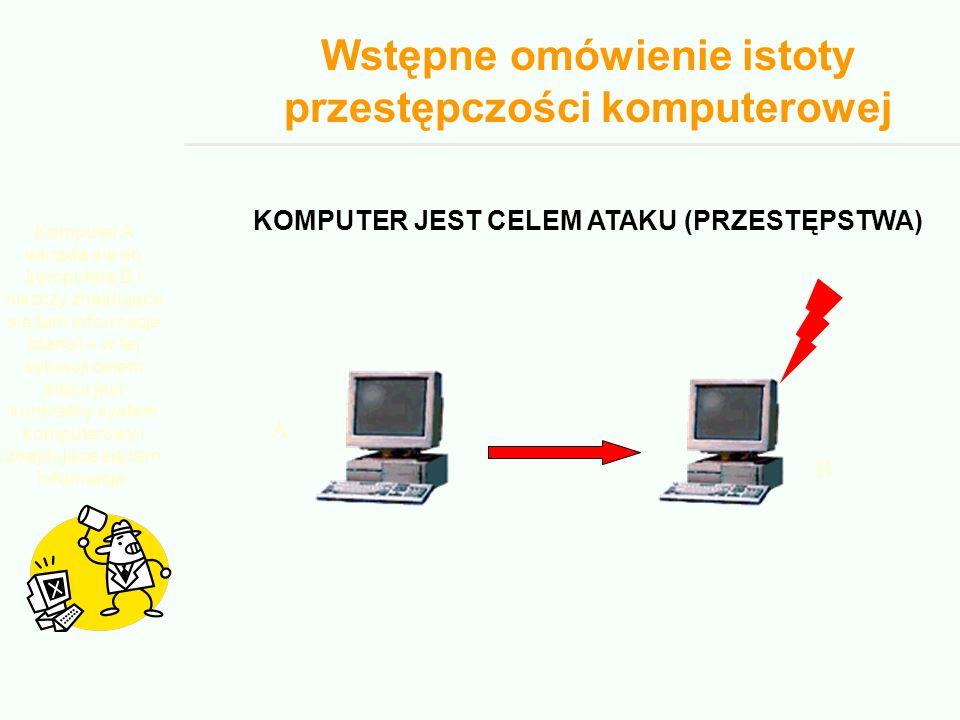 Wstępne omówienie istoty przestępczości komputerowej