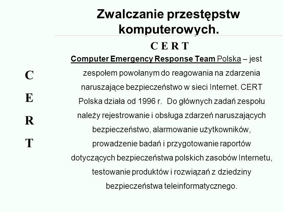 Zwalczanie przestępstw komputerowych.