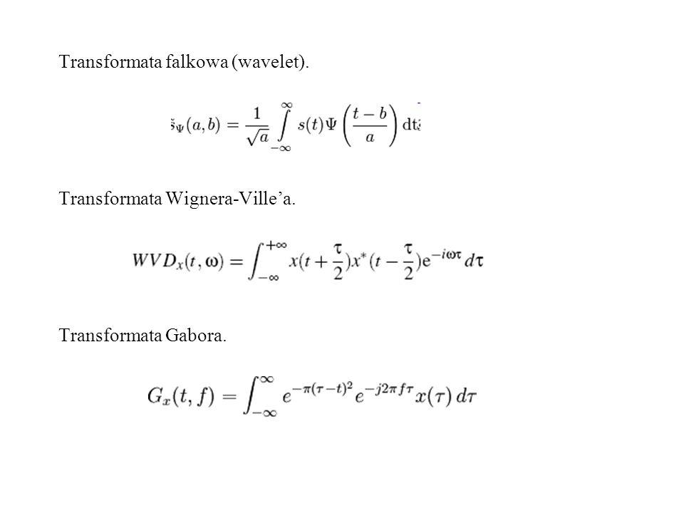 Transformata falkowa (wavelet).