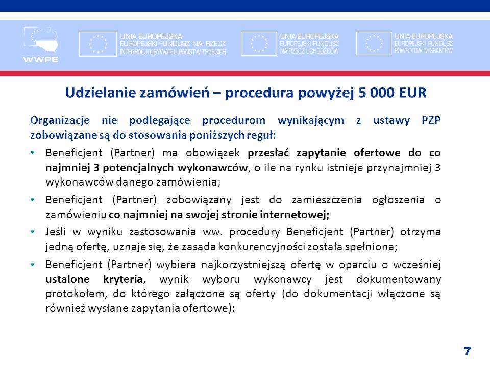 Udzielanie zamówień – procedura powyżej 5 000 EUR