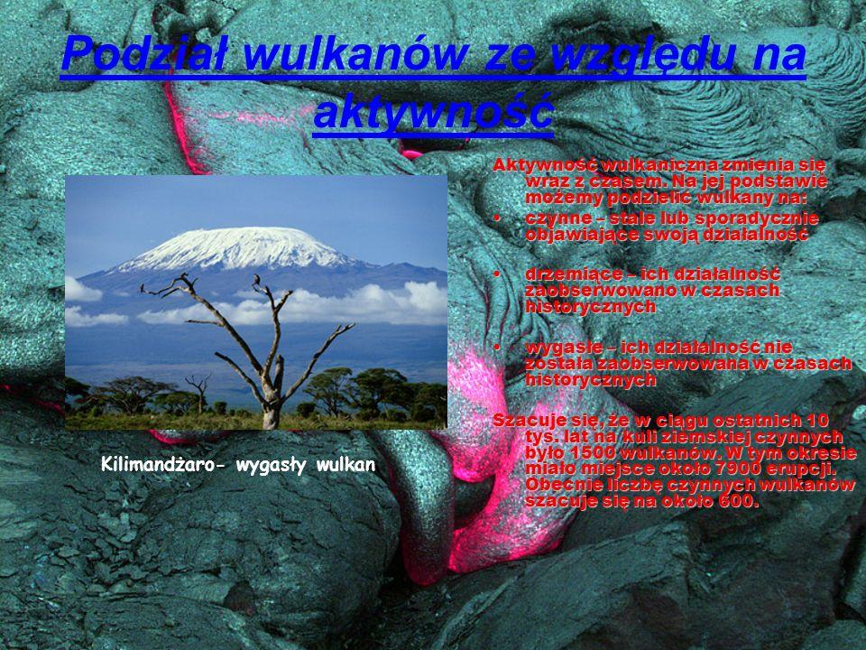 Podział wulkanów ze względu na aktywność