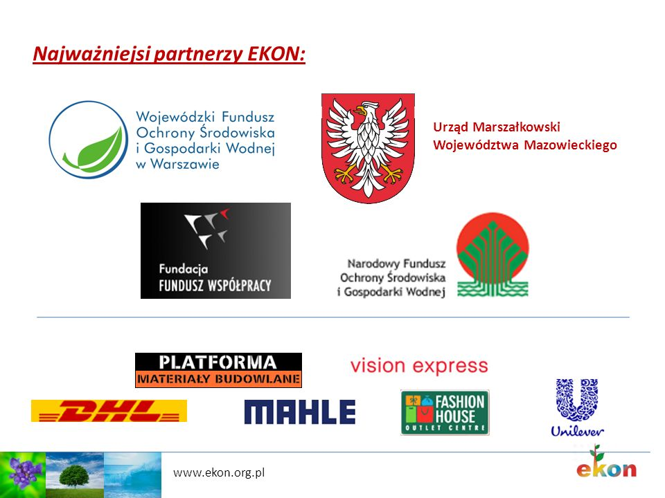 Najważniejsi partnerzy EKON: