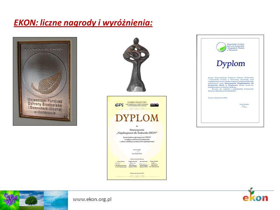 EKON: liczne nagrody i wyróżnienia: