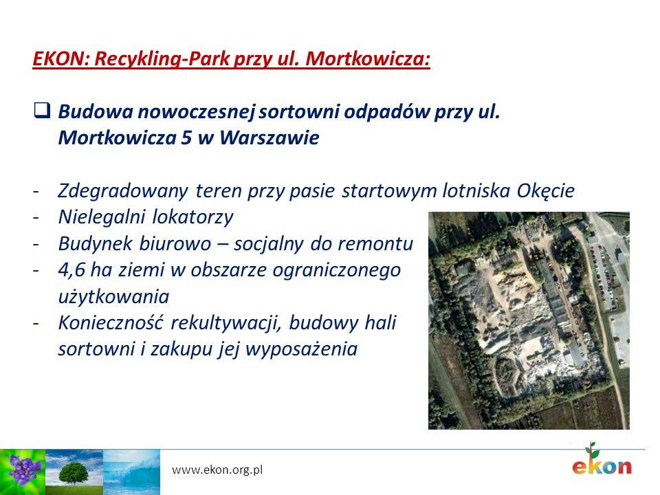 EKON: Recykling-Park przy ul. Mortkowicza: