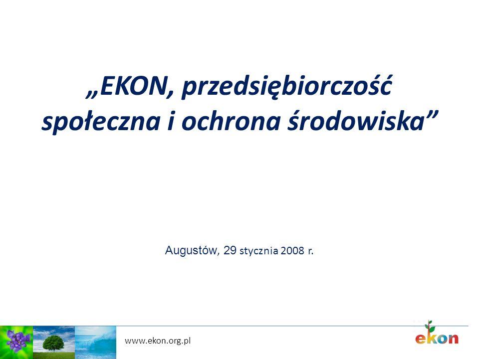 """""""EKON, przedsiębiorczość społeczna i ochrona środowiska"""