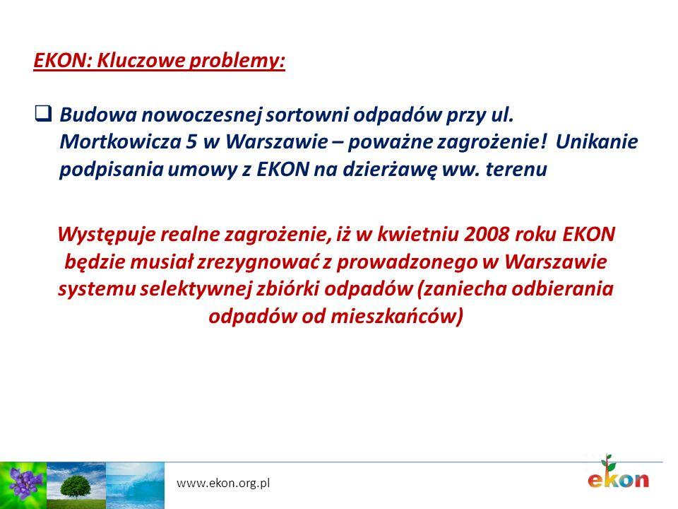 EKON: Kluczowe problemy: