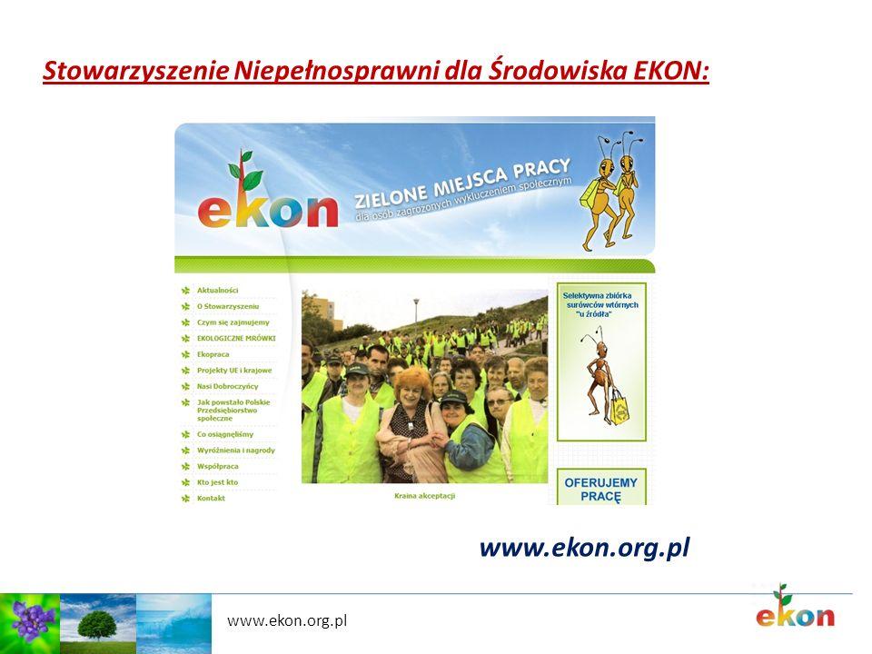 Stowarzyszenie Niepełnosprawni dla Środowiska EKON: