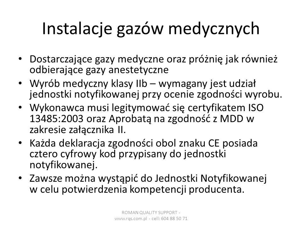 Instalacje gazów medycznych