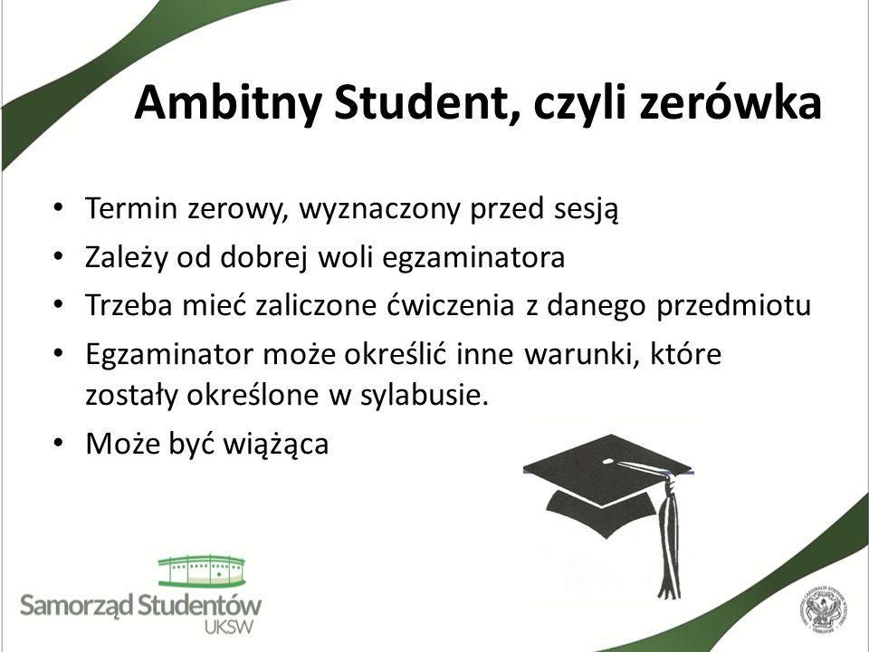 Ambitny Student, czyli zerówka
