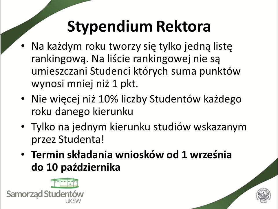 Stypendium Rektora