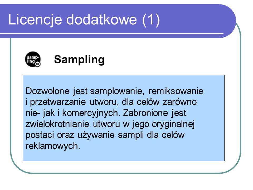 Licencje dodatkowe (1) Sampling