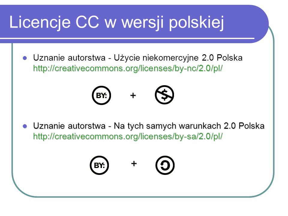 Licencje CC w wersji polskiej