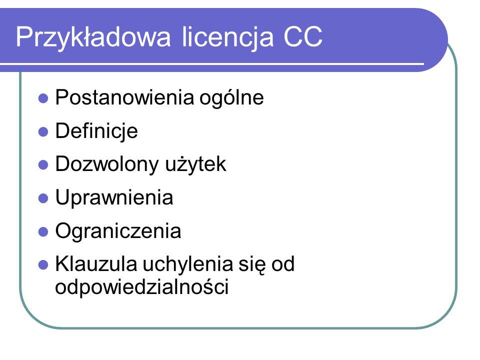 Przykładowa licencja CC