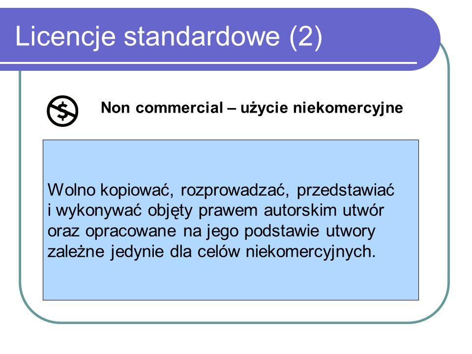 Licencje standardowe (2)