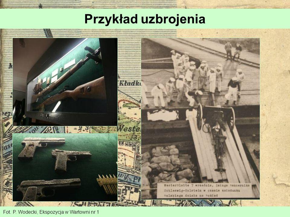 Przykład uzbrojenia Fot. P. Wodecki, Ekspozycja w Wartowni nr 1
