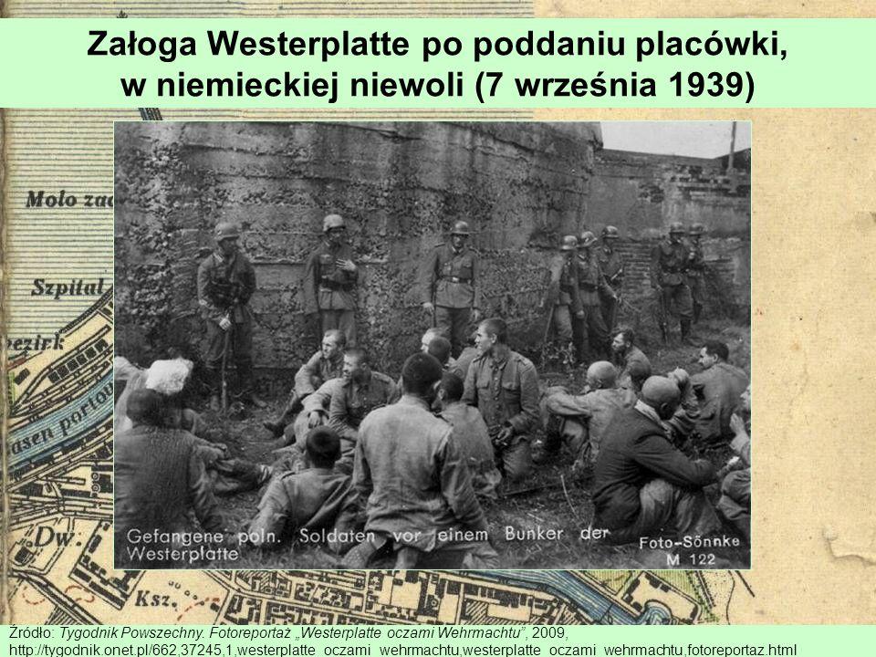 Załoga Westerplatte po poddaniu placówki, w niemieckiej niewoli (7 września 1939)