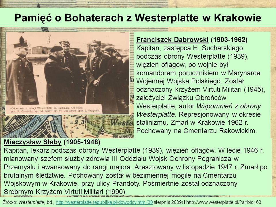 Pamięć o Bohaterach z Westerplatte w Krakowie