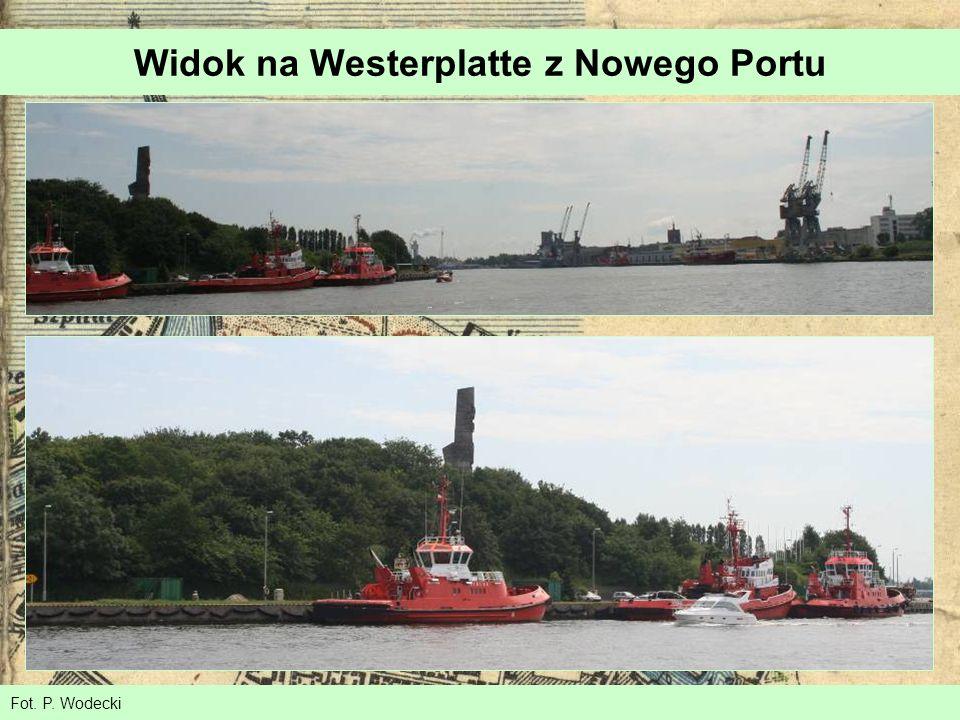 Widok na Westerplatte z Nowego Portu