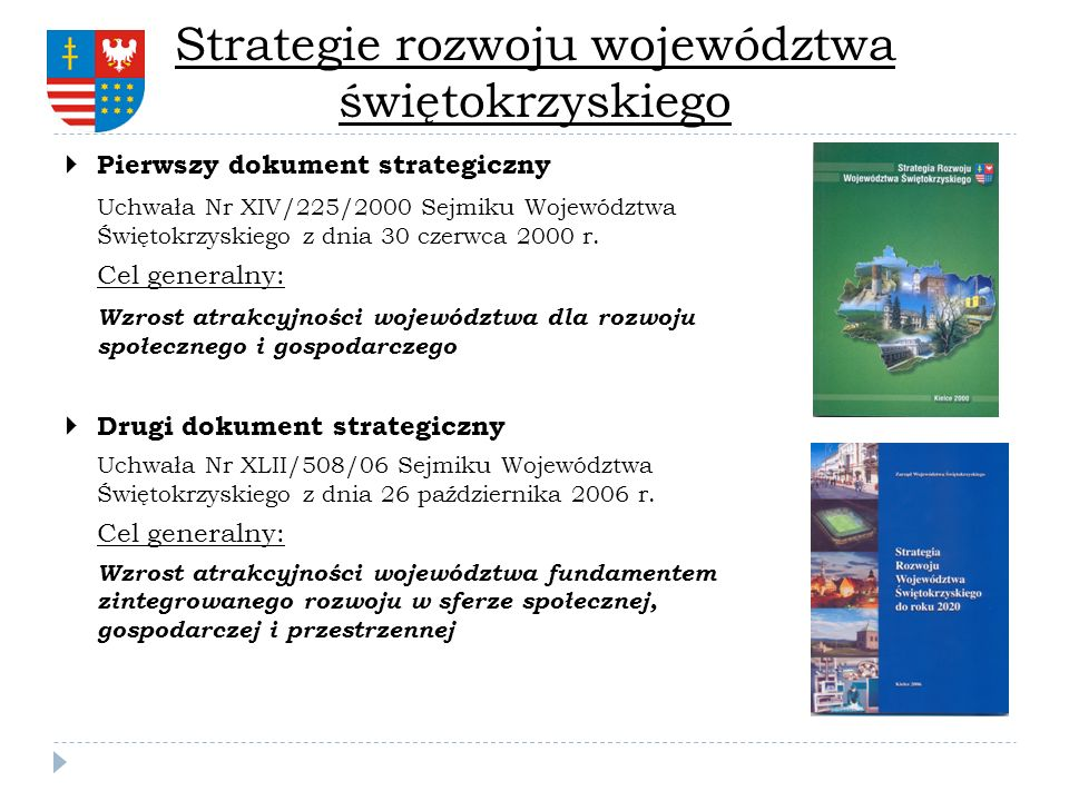 Strategie rozwoju województwa świętokrzyskiego