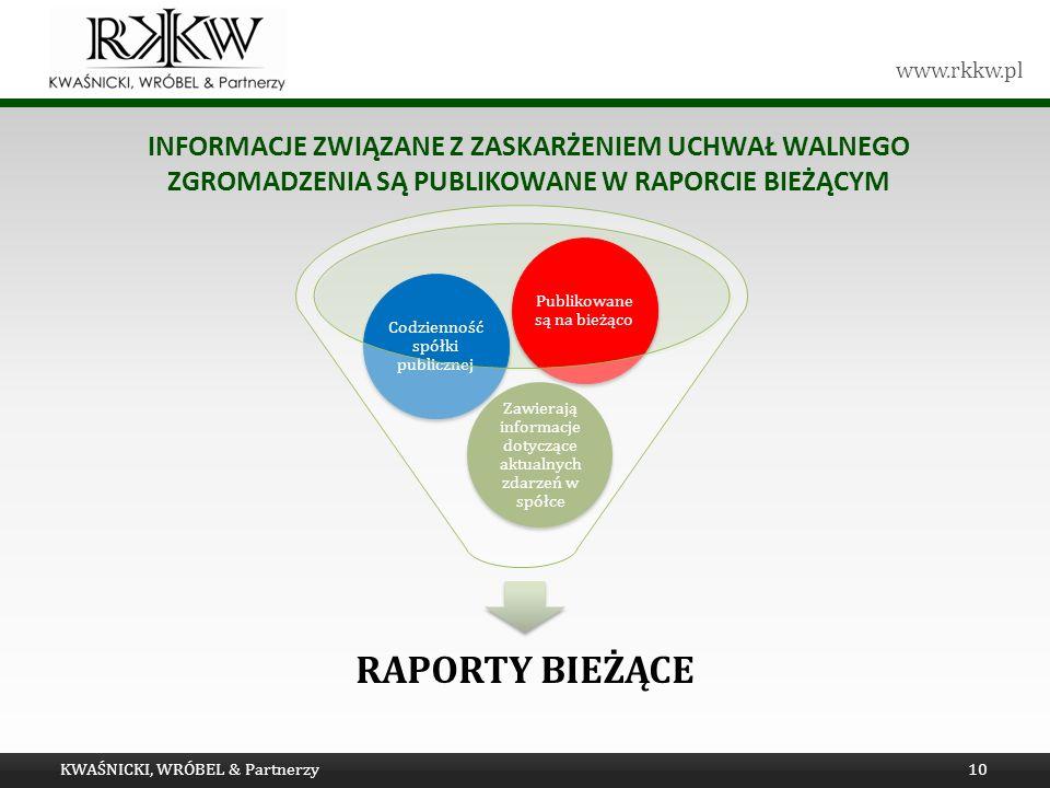 Informacje związane z zaskarżeniem uchwał Walnego Zgromadzenia są publikowane w raporcie bieżącym