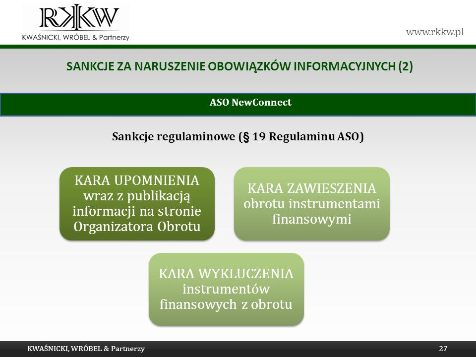 Sankcje za naruszenie obowiązków informacyjnych (2)