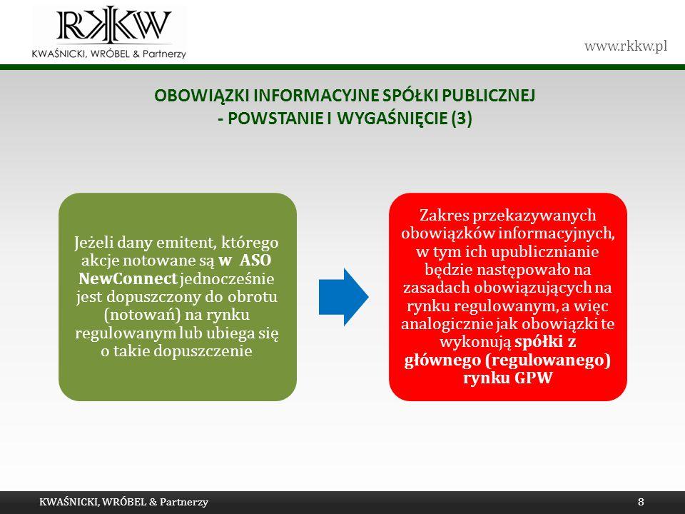 Obowiązki informacyjne spółki publicznej - powstanie i wygaśnięcie (3)