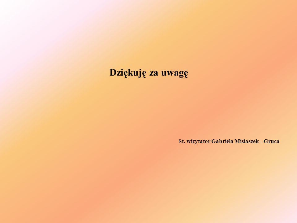 Dziękuję za uwagę St. wizytator Gabriela Misiaszek - Gruca