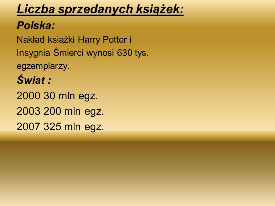 Liczba sprzedanych książek: