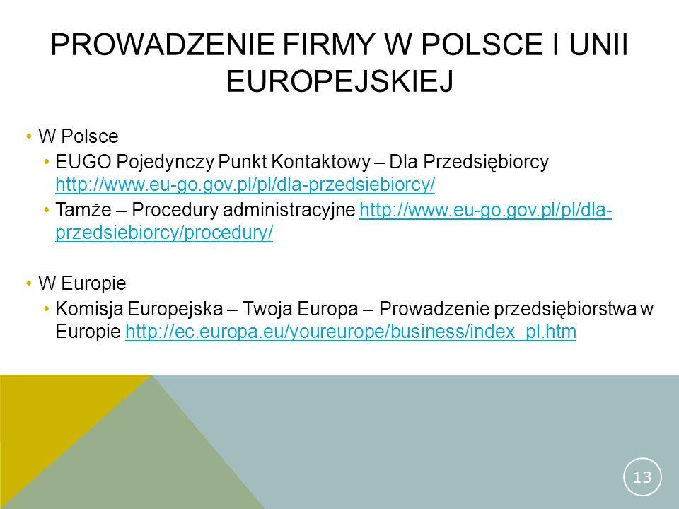Prowadzenie firmy w polsce i unii europejskiej