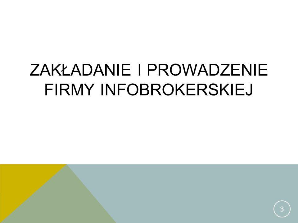 Zakładanie i prowadzenie firmy infobrokerskiej