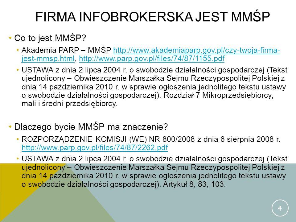 Firma infobrokerska jest mmśp