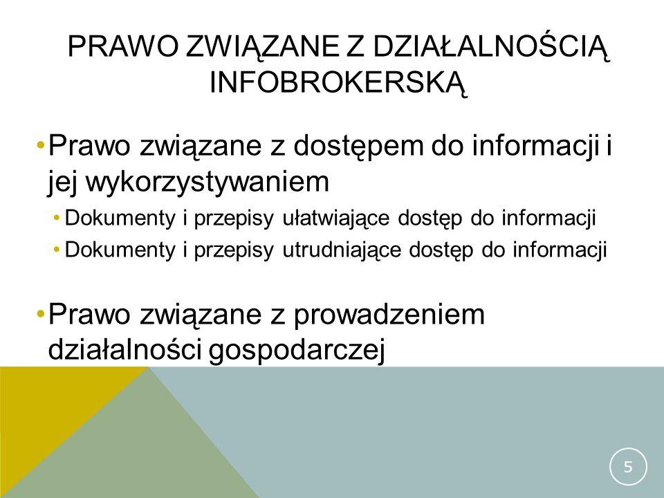 Prawo związane z działalnością infobrokerską