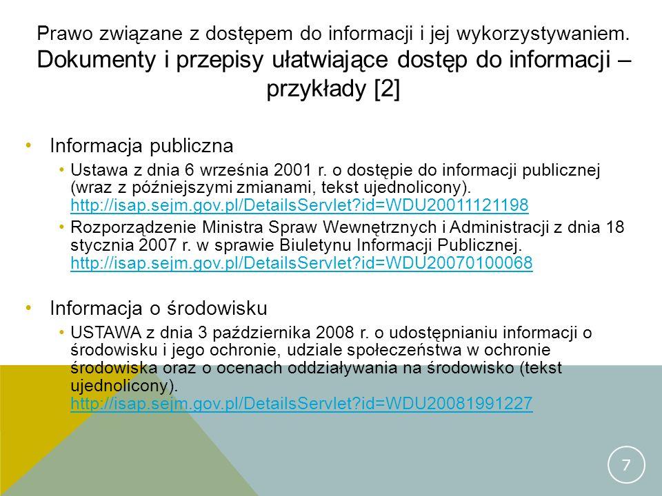 Informacja o środowisku