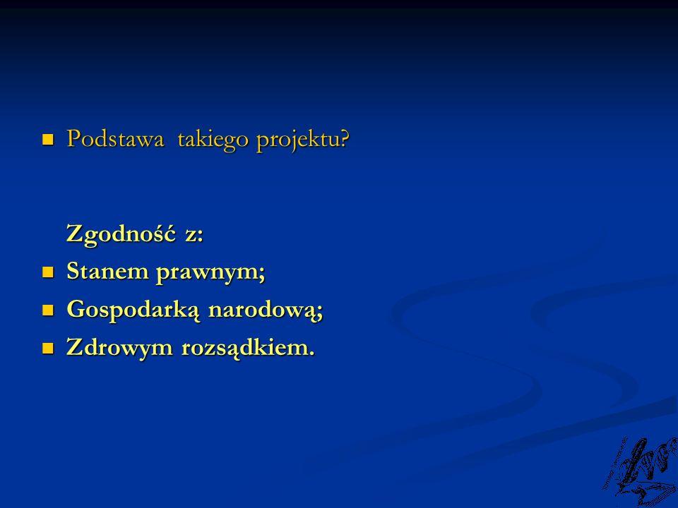 Podstawa takiego projektu Zgodność z: