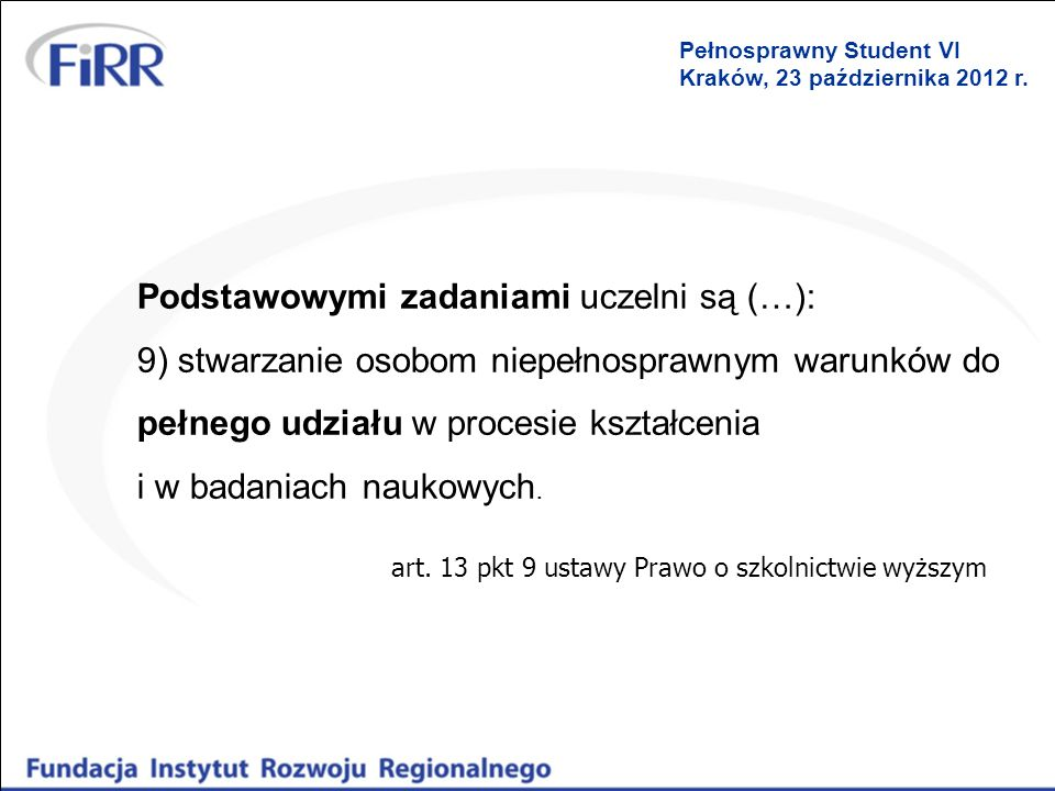 art. 13 pkt 9 ustawy Prawo o szkolnictwie wyższym