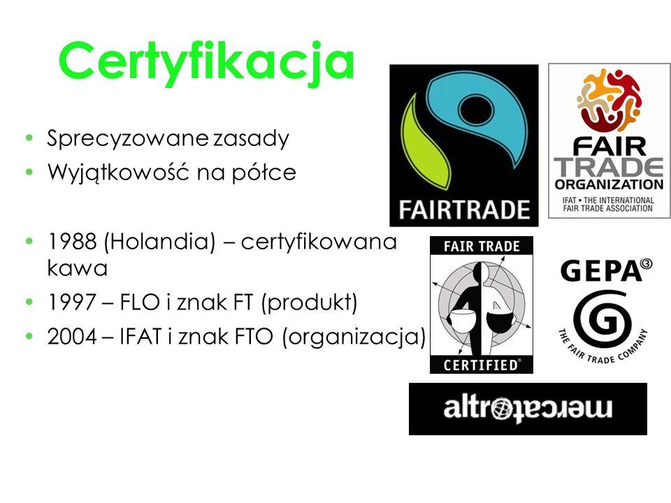 Certyfikacja Sprecyzowane zasady Wyjątkowość na półce
