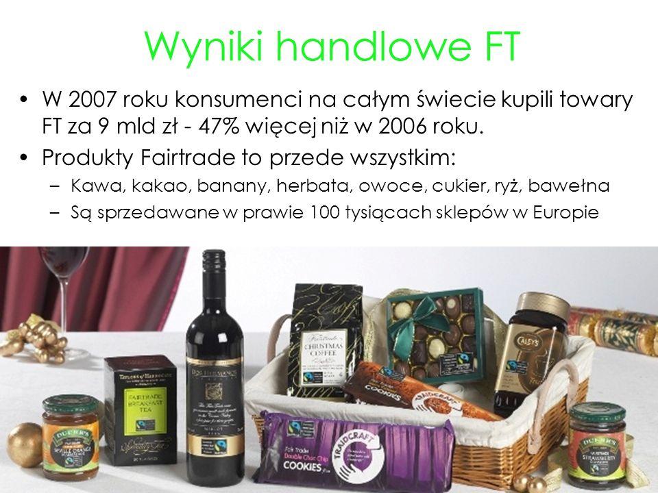 Wyniki handlowe FT W 2007 roku konsumenci na całym świecie kupili towary FT za 9 mld zł - 47% więcej niż w 2006 roku.