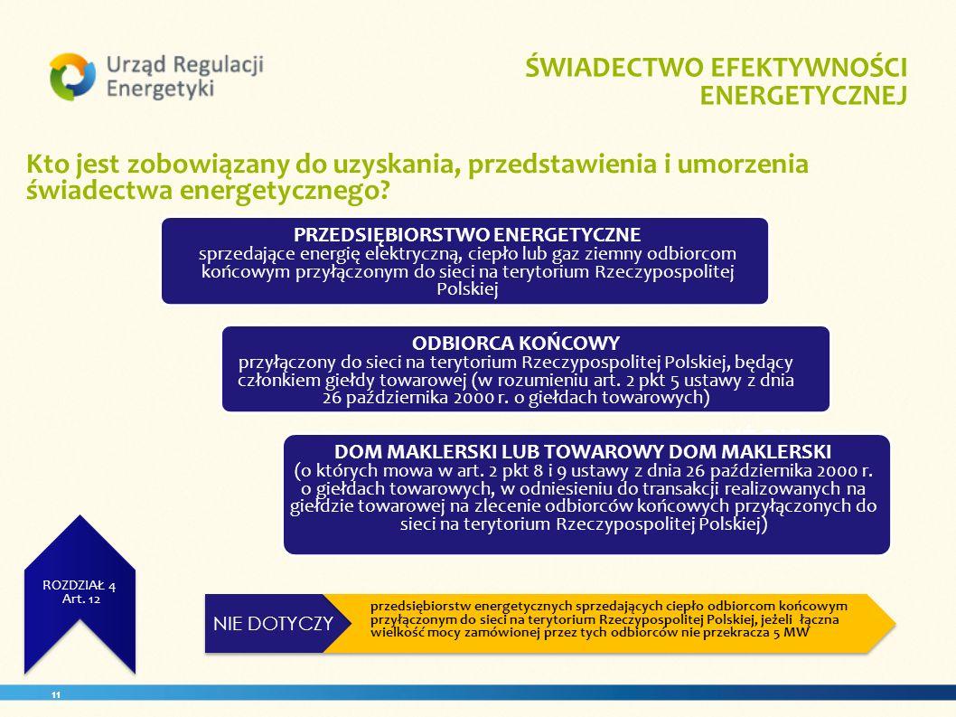 PRZEDSIĘBIORSTWO ENERGETYCZNE DOM MAKLERSKI LUB TOWAROWY DOM MAKLERSKI