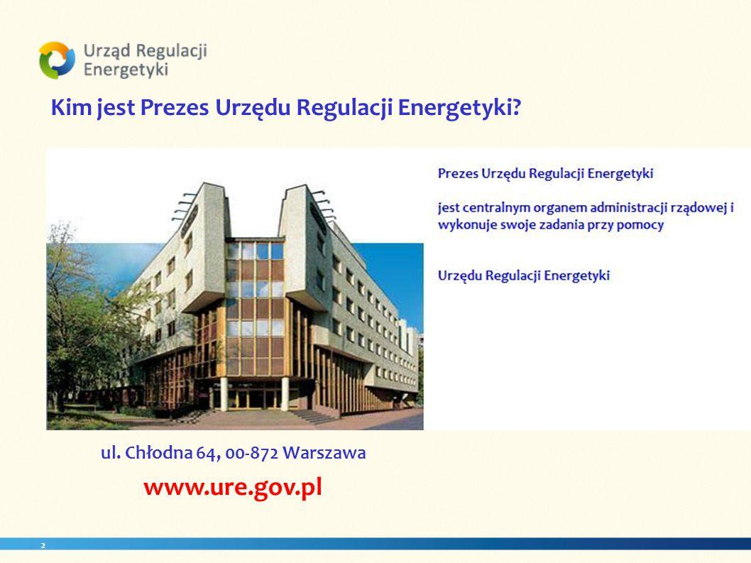 www.ure.gov.pl Kim jest Prezes Urzędu Regulacji Energetyki