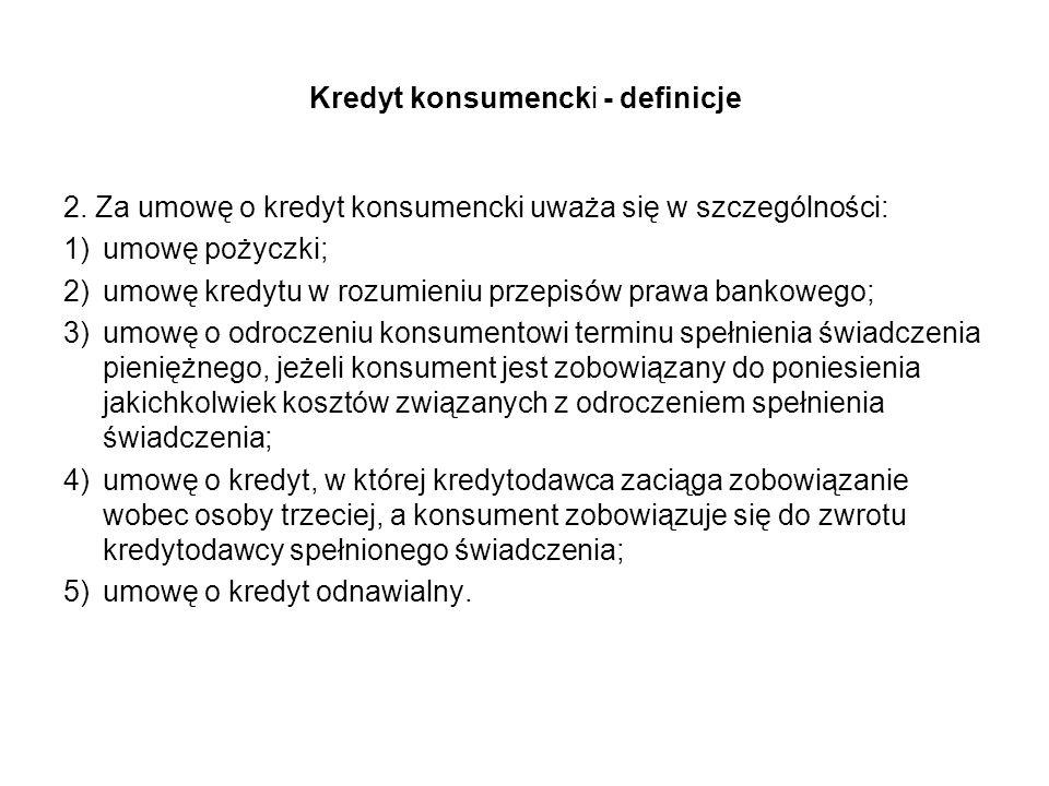 Kredyt konsumencki - definicje