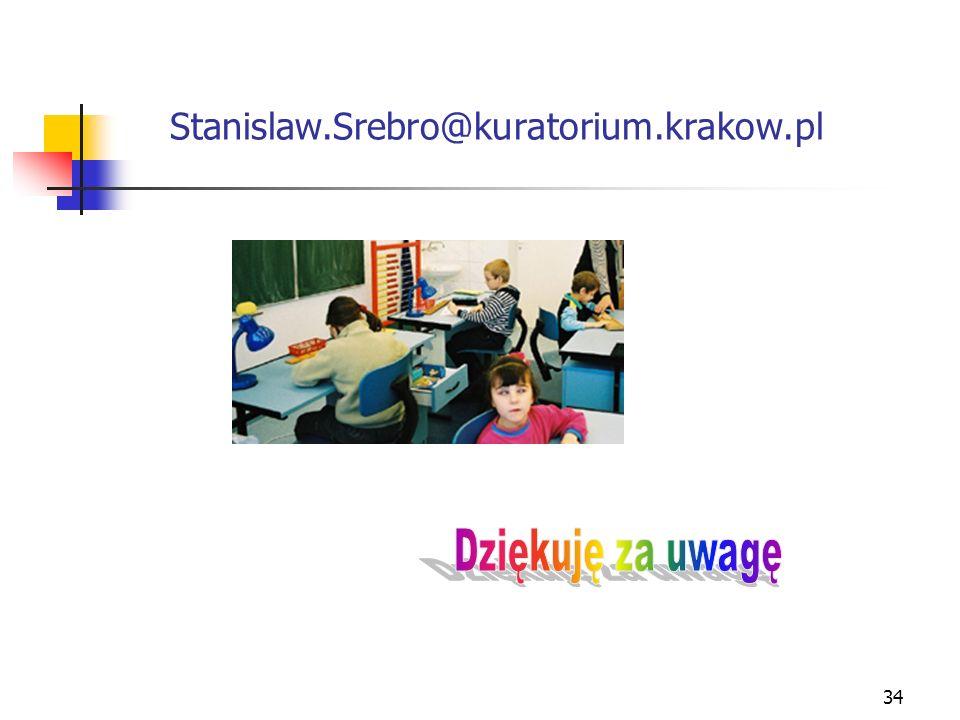 Stanislaw.Srebro@kuratorium.krakow.pl Dziękuję za uwagę