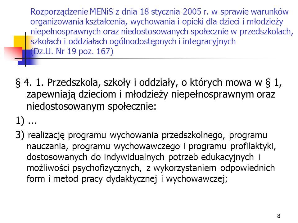 Rozporządzenie MENiS z dnia 18 stycznia 2005 r