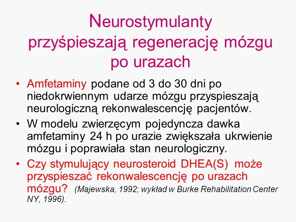 Neurostymulanty przyśpieszają regenerację mózgu po urazach