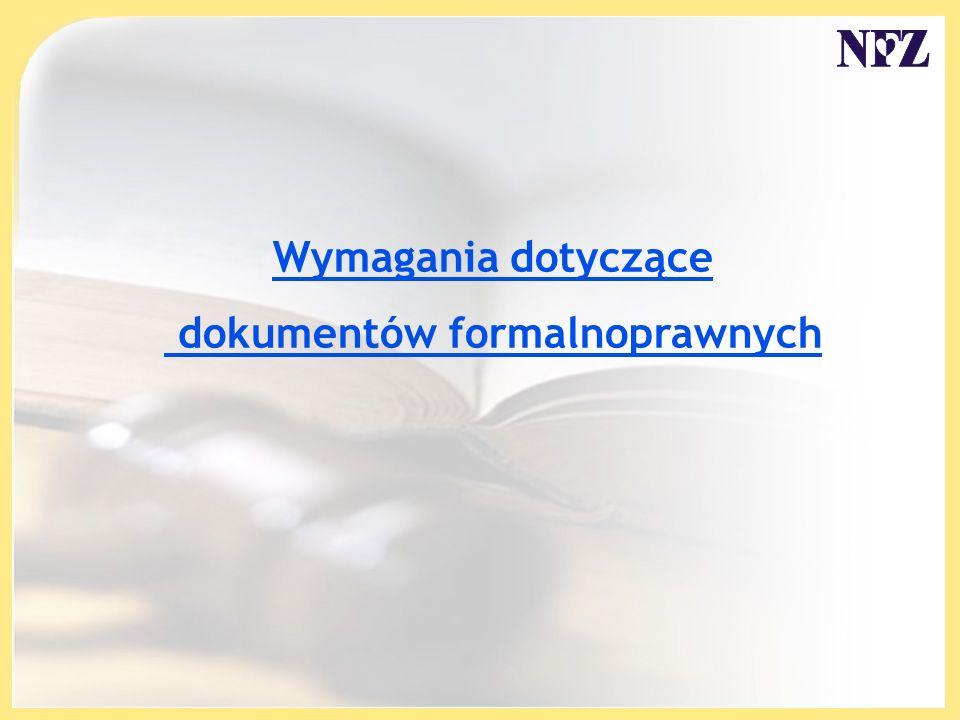 dokumentów formalnoprawnych