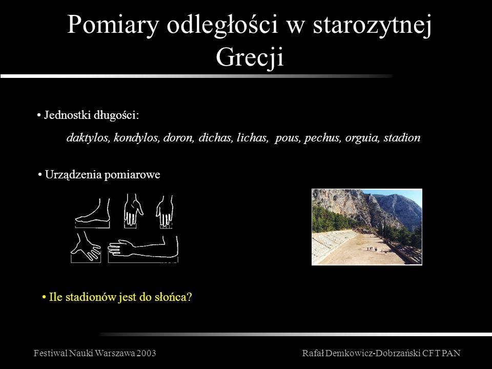 Pomiary odległości w starozytnej Grecji