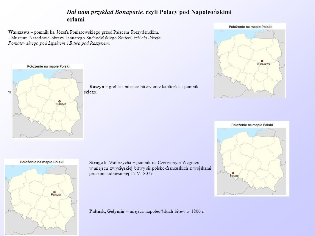 Dał nam przykład Bonaparte. czyli Polacy pod Napoleońskimi orłami
